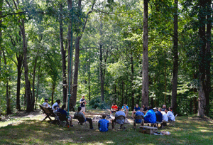 Group of men at a faith based recovery program in Tennessee for addiction treatment